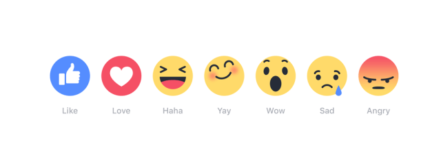 First Glance: Facebook's Reactions